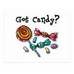 Caramelo conseguido Halloween Tarjeta Postal