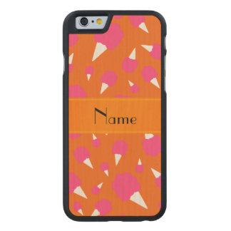 Caramelo de algodón anaranjado conocido funda de iPhone 6 carved® slim de arce