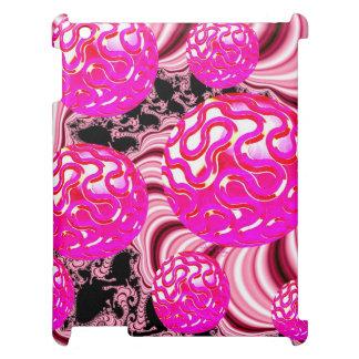 Caramelo de algodón, blanco subió rosa abstracto