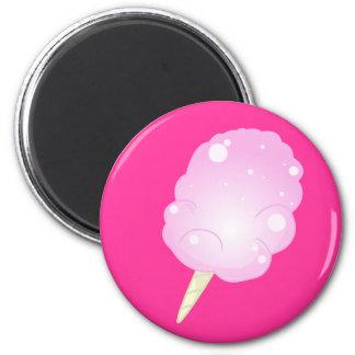 Caramelo de algodón - imán rosado