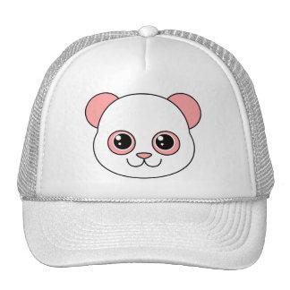 Caramelo de algodón lindo de la panda gorra