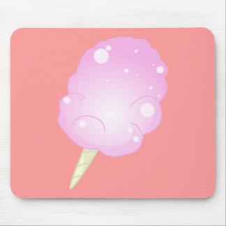 Caramelo de algodón Mousepad - rosa
