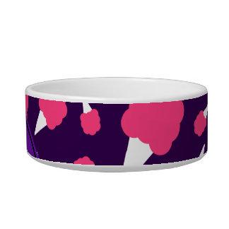 Caramelo de algodón púrpura conocido personalizado bol para gato