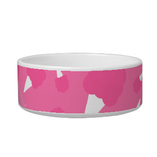 Caramelo de algodón rosado conocido personalizado tazones para comida para gato