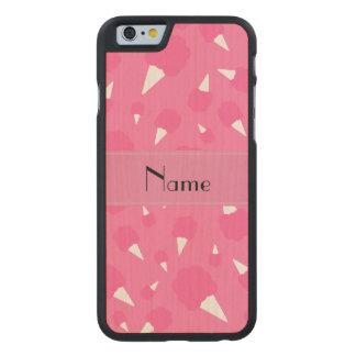 Caramelo de algodón rosado conocido personalizado funda de iPhone 6 carved® slim de arce