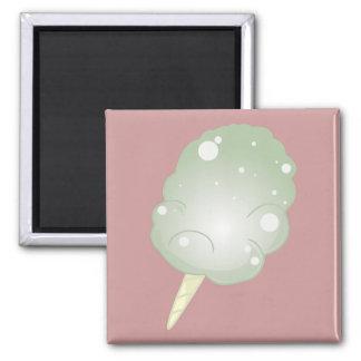 Caramelo de algodón - verde iman de nevera