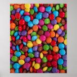 Caramelo de chocolate colorido impresiones