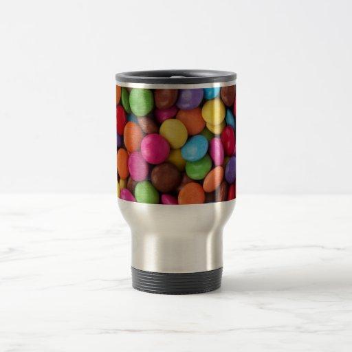 Caramelo de chocolate colorido taza