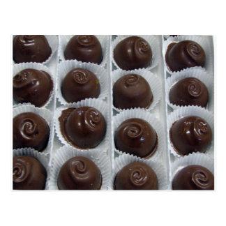Caramelo de chocolate postal