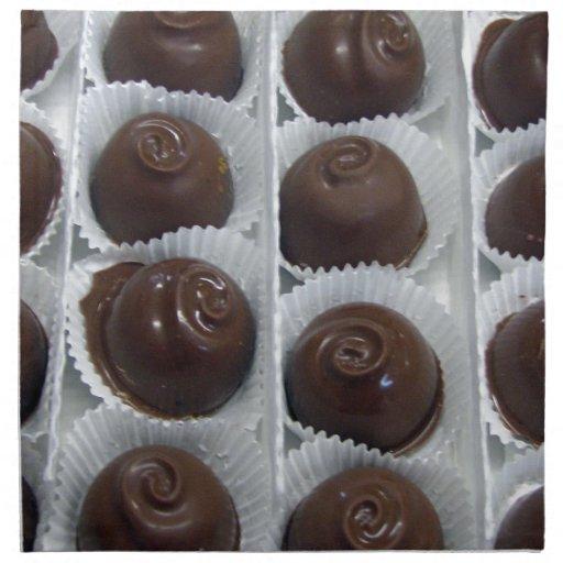 Caramelo de chocolate servilletas imprimidas