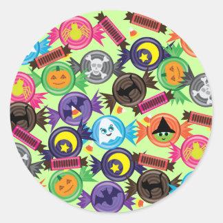 Caramelo de Halloween de la diversión Etiqueta Redonda
