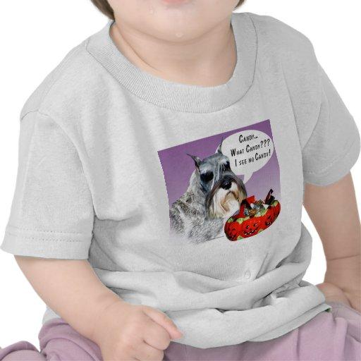 Caramelo de Halloween del Schnauzer miniatura Camiseta