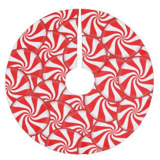 Caramelo de hierbabuena falda para arbol de navidad de poliéster