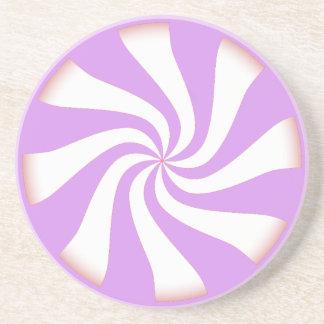 Caramelo de hierbabuena púrpura posavasos cerveza