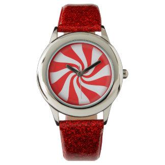 Caramelo de hierbabuena relojes de pulsera