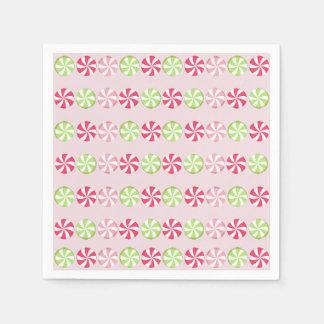 Caramelo de hierbabuena servilleta de papel