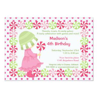 """Caramelo de hierbabuena y cumpleaños de los chicas invitación 5"""" x 7"""""""