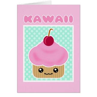 Caramelo de la cereza de la magdalena de Kawaii Tarjetón