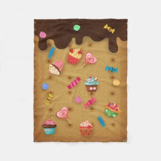 Caramelo de la galleta del chocolate de dulces manta de forro polar