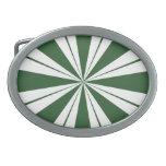 Caramelo de la raya de la menta verde hebilla de cinturon oval