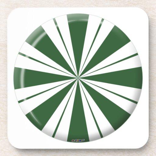 Caramelo de la raya de la menta verde posavaso