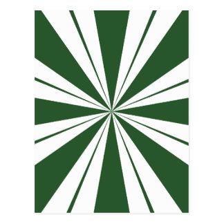 Caramelo de la raya de la menta verde postales