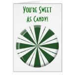 Caramelo de la raya de la menta verde felicitacion