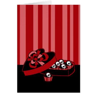 Caramelo de la tarjeta del día de San Valentín del