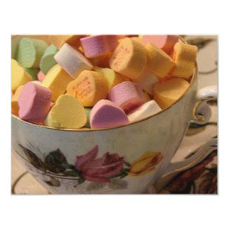 Caramelo de la tarjeta del día de San Valentín en Invitaciones Personales