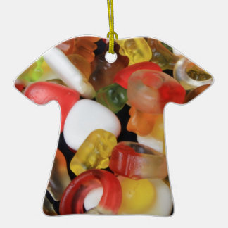 Caramelo de los dulces adorno de cerámica en forma de camiseta
