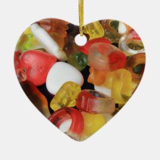 Caramelo de los dulces adorno de cerámica en forma de corazón
