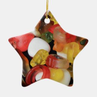 Caramelo de los dulces adorno de cerámica en forma de estrella