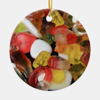 Caramelo de los dulces adorno redondo de cerámica