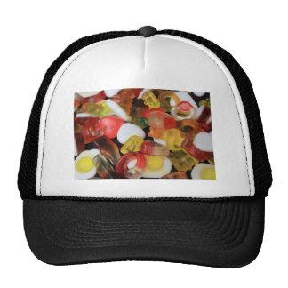 Caramelo de los dulces gorras