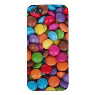 Caramelo de los sabelotodos rojos, azul, verde y d iPhone 5 carcasa