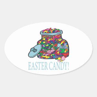 Caramelo de Pascua Calcomanías De Ovales