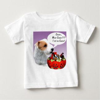 Caramelo de Russell Terrier Halloween del párroco Playera De Bebé