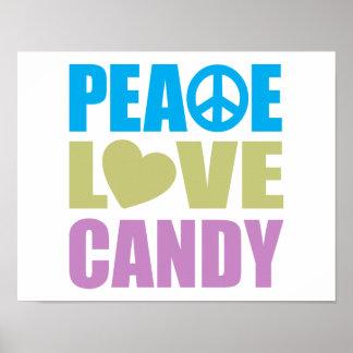 Caramelo del amor de la paz poster