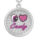 Caramelo del amor del corazón I del ojo de Emo Collares Personalizados