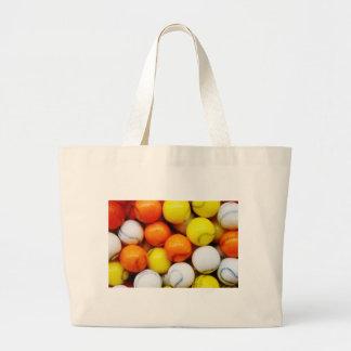 Caramelo del béisbol bolsa tela grande