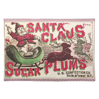 Caramelo del ciruelo del azúcar del navidad de Pap Manteles Individuales