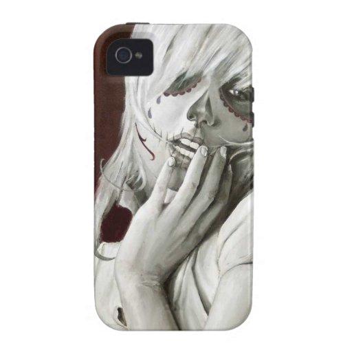 caramelo del cráneo vibe iPhone 4 carcasa