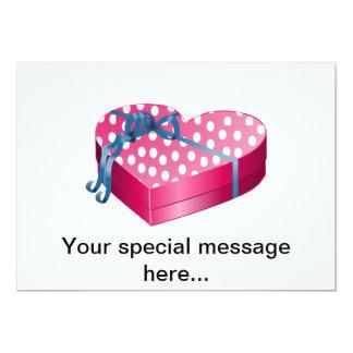 """Caramelo del el día de San Valentín Invitación 5"""" X 7"""""""