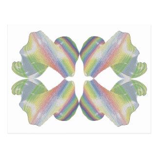 Caramelo del fractal de la tela a rayas postal