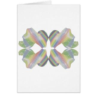Caramelo del fractal de la tela a rayas tarjeta de felicitación