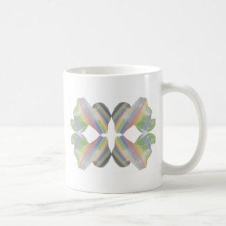 Caramelo del fractal de la tela a rayas taza de café