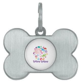 Caramelo del Lollipop Placas De Mascota