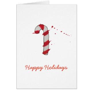 Caramelo del navidad del color de agua tarjeta de felicitación