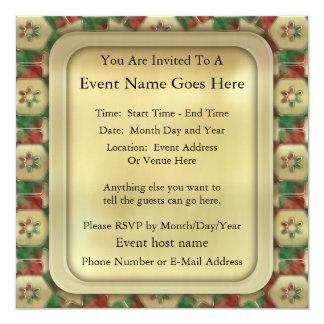 """Caramelo del navidad invitación 5.25"""" x 5.25"""""""