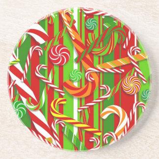 Caramelo del navidad posavasos manualidades